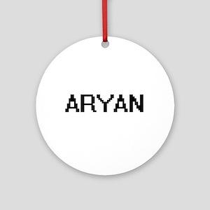 Aryan Digital Name Design Ornament (Round)