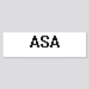 Asa Digital Name Design Bumper Sticker