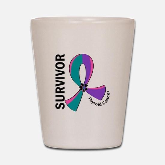 Thyroid Cancer Survivor 12 Shot Glass