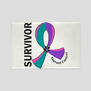 Thyroid Cancer Survivor 12 Rectangle Magnet