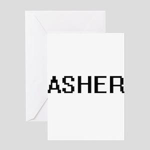 Asher Digital Name Design Greeting Cards
