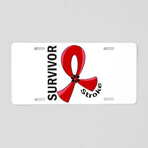 Stroke Awareness V12 Aluminum License Plate