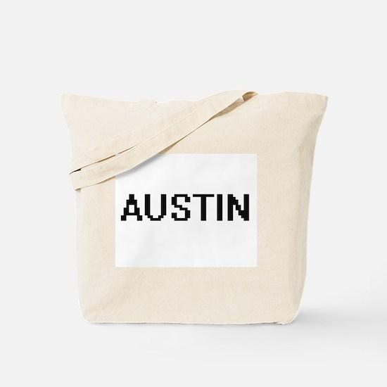Austin Digital Name Design Tote Bag