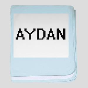 Aydan Digital Name Design baby blanket