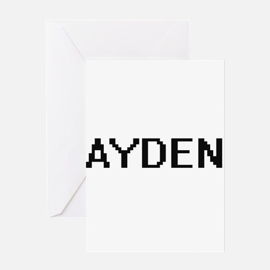 Ayden Digital Name Design Greeting Cards