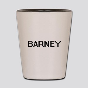 Barney Digital Name Design Shot Glass