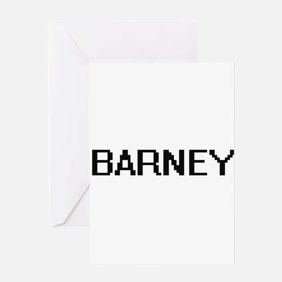 Barney Digital Name Design Greeting Cards