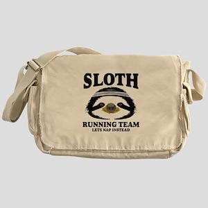 SLOTH RUNNING TEAM, LETS NAP INSTEAD Messenger Bag