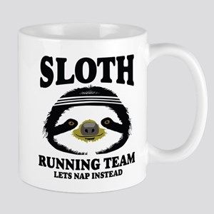 SLOTH RUNNING TEAM, LETS NAP INSTEAD Mugs