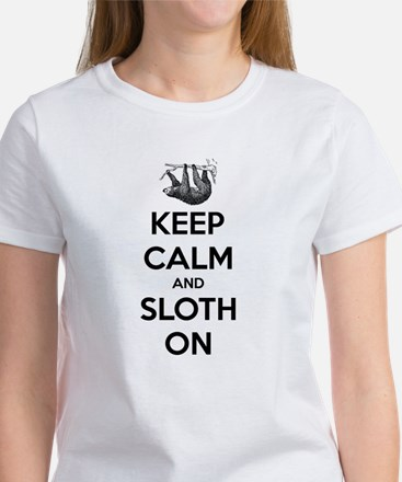 Keep Calm And Sloth On T-Shirt