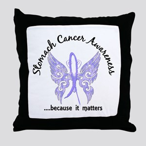 Stomach Cancer Butterfly 6.1 Throw Pillow