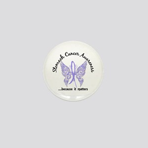 Stomach Cancer Butterfly 6.1 Mini Button