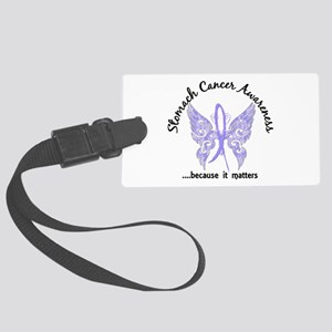 Stomach Cancer Butterfly 6.1 Large Luggage Tag