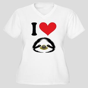 I HEART SLOTH Plus Size T-Shirt