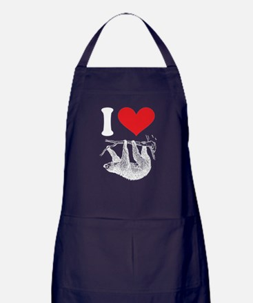 I HEART SLOTH Apron (dark)