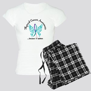 Thyroid Cancer Butterfly 6. Women's Light Pajamas