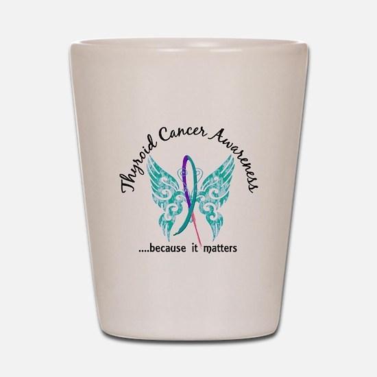 Thyroid Cancer Butterfly 6.1 Shot Glass