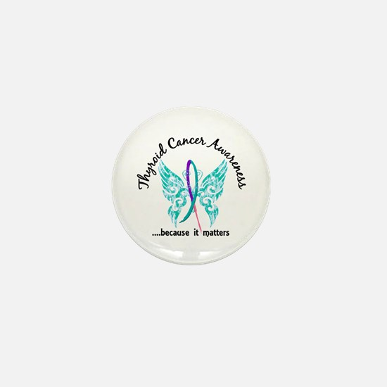 Thyroid Cancer Butterfly 6.1 Mini Button