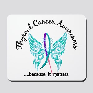 Thyroid Cancer Butterfly 6.1 Mousepad