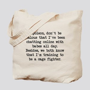 Don't Be Jealous (blk) - Napoleon Tote Bag