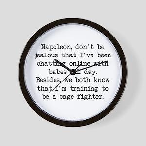 Don't Be Jealous (blk) - Napoleon Wall Clock