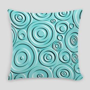 Teal Circles Everyday Pillow
