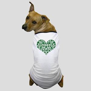 Shamrocks Heart Dog T-Shirt