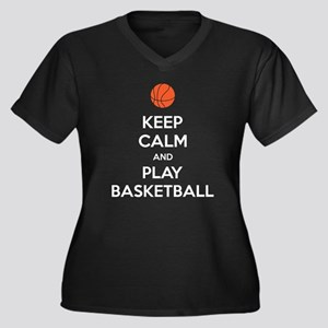 Keep Calm And Play Basketball Plus Size T-Shirt