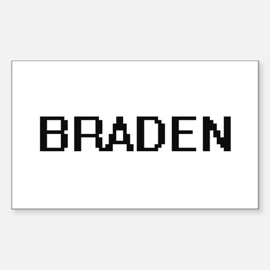 Braden Digital Name Design Decal