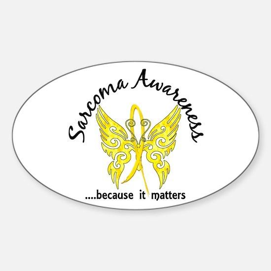 Sarcoma Butterfly 6.1 Sticker (Oval)