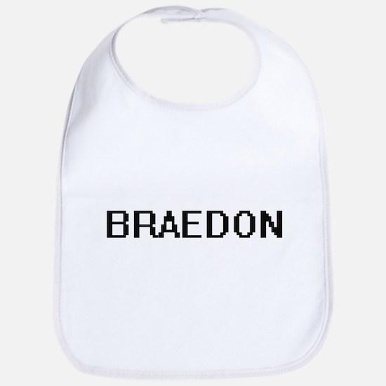 Braedon Digital Name Design Bib