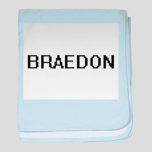 Braedon Digital Name Design baby blanket