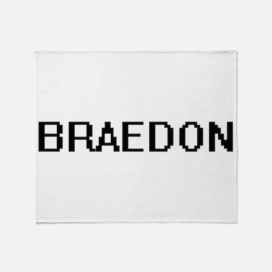 Braedon Digital Name Design Throw Blanket