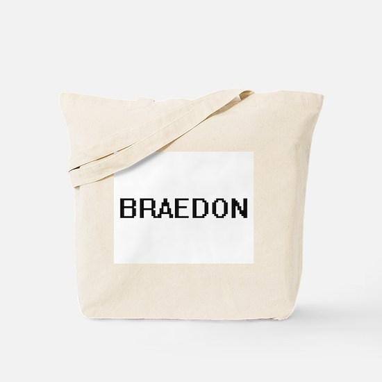 Braedon Digital Name Design Tote Bag