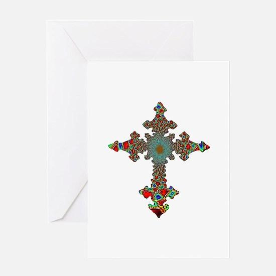 Jewel Cross Greeting Card