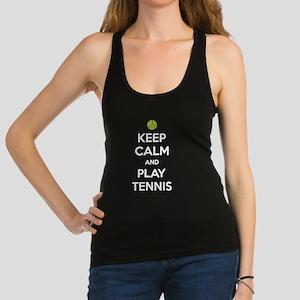 Keep Calm And Play Tennis Racerback Tank Top