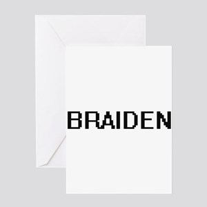 Braiden Digital Name Design Greeting Cards