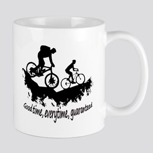 Mountain Biking Good Time Inspirational Quote Mugs