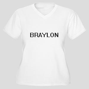 Braylon Digital Name Design Plus Size T-Shirt