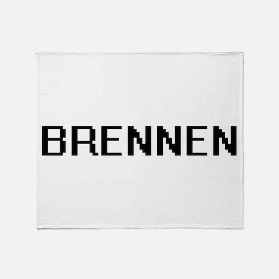 Brennen Digital Name Design Throw Blanket