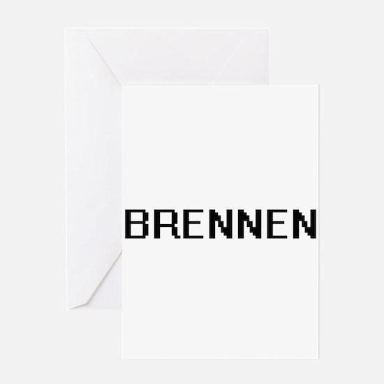 Brennen Digital Name Design Greeting Cards