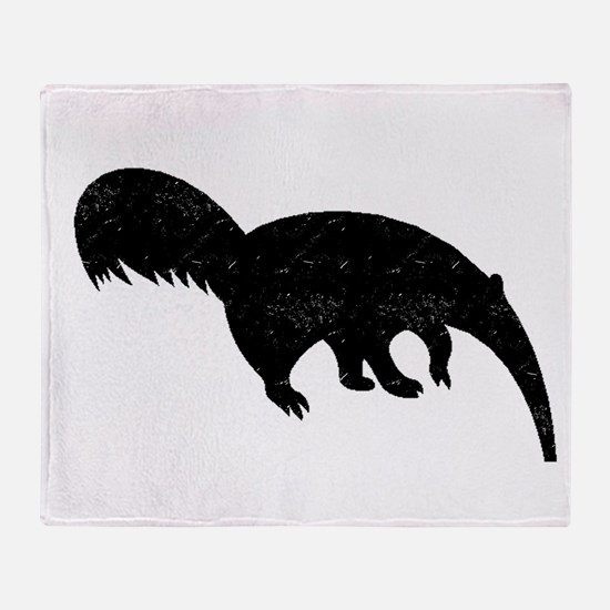 Distressed Anteater Silhouette Throw Blanket