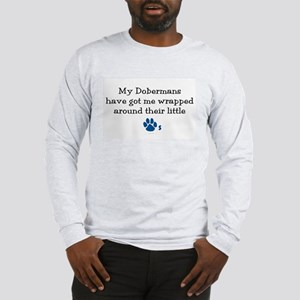 Wrapped Around Their Paws (Doberman) Long Sleeve T
