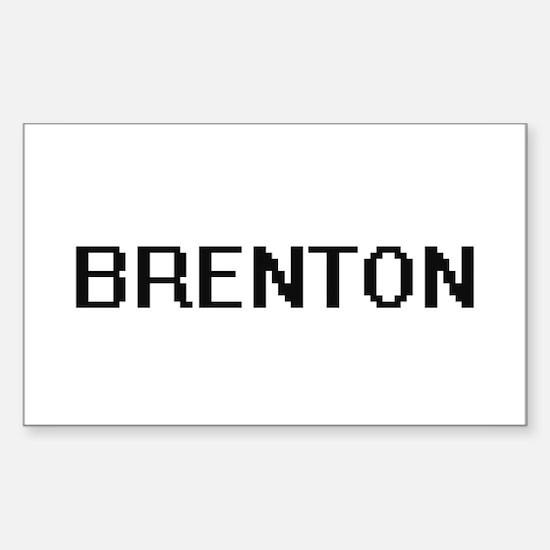 Brenton Digital Name Design Decal