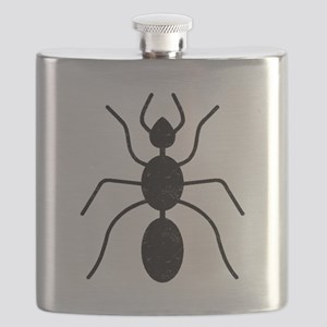 Distressed Ant Silhouette Flask
