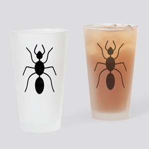 Distressed Ant Silhouette Drinking Glass