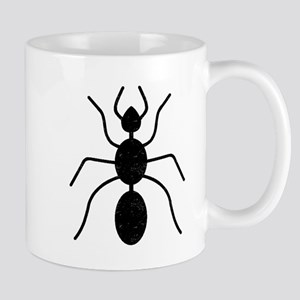 Distressed Ant Silhouette Mugs