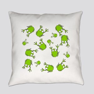 Frog Green Everyday Pillow