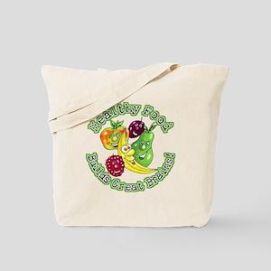 Healthy Food Builds Great Brains! Tote Bag