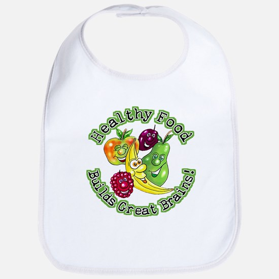 Healthy Food Builds Great Brains! Bib